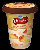 Десерт сирковий 3,4% з наповнювачем персик Дольче (Стаканчик 0,350кг)