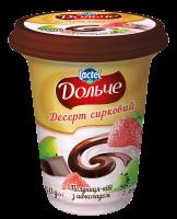 Десерт сирковий 3,4% з наповнювачами полуниця-ківі і шоколад Дольче (стаканчик 0,350 кг)