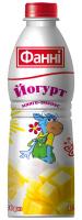 Йогурт питний з наповнювачем манго-ананас 1% Фанні (пляшка 0,750 кг)