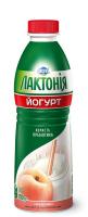 Йогурт з наповнювачем персик з пребіотиком лактулози 1,5% Лактонія (питний) (Пляшка 0,780 кг)