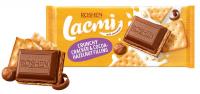 Шоколад Roshen Lacmi молоч.з какао-горіх.нач.та крекером 110г