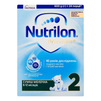 Суміш Nutricia Nutrilon Premium+ 2 6-12м. 600г