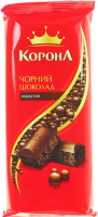 Шоколад Корона чорний пористий 90г