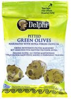 Оливки Delphi зелені мариновані б/к 60г