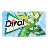 Жув.гумка Dirol X-Fresh свіжість яблука 18г х30