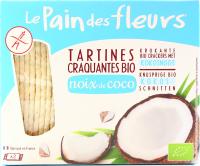 Хлібці Le Pain des fleurs органічні з кокосом 150г
