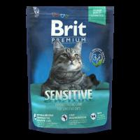 Корм Brit Premium Sensitive д/котів з чутливим травленням 300г