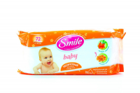 Дитячі серветки вологі гігієнічні Smile Baby Обліпиха та Календула, 72 шт.