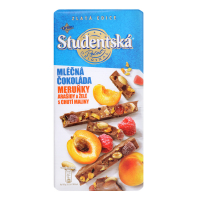 Шоколад Studentska мол. з ар.,жел.шмат.,шмат.абрикосу 170г х20