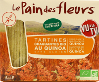 Хлібці Le Pain des fleurs безглютенові орг. з кіноа 150г