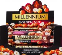 Шоколад Millenium Golden Nut чорний ліс.горіхи 40г