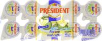 Вершки President порційні 10% 10г*10шт. х20
