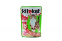 Корм Kitekat з яловичиною в желе 100г х6