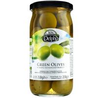 Оливки Delphi з/к зелені в росолі 350г