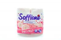 Папір туалетний Soffione Decoro 2-х шаровий 4шт. х6