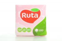Серветки паперові столові Ruta 24*24см Рожеві, 100 шт.