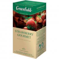 Чай Greenfield Strawberry Gourmet чорний 25*1,5г