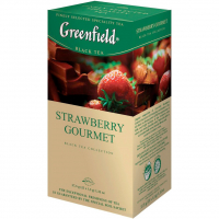 Чай Greenfield Strawberry Gourmet чорний 25*1,5г