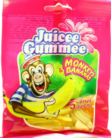 Цукерки Juicee Gummee желейні Мавпи та банани 80г х20