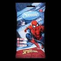 Дитячі вологі серветки Smile Marvel Spider-Man, 15 шт.
