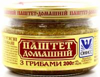 Паштет Онисс Домашній з грибами 200г с/б
