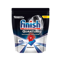 Засіб для миття посуду в посудомийних машинах в таблетках Finish Quantum Ultimate Lemon 40шт