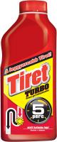 Гель для видалення засмічень в каналізаційних трубах Tiret Turbo, 500 мл
