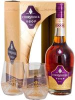 Коньяк Courvoisier VSOP 6-10 років витримки 40% 0.7л +2 склянки (короб)