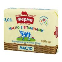 Масло Ферма Селянське з вітамінами 73% 180г x20