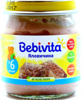 Пюре Bebivita м`ясне Яловичина 100г с/б х7
