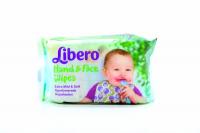 Серветки Libero вологі для рук та обличчя 20шт х6