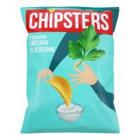 Чіпси Chipster`s зі смаком сметани та зелені 130г х20