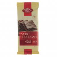 Шоколад АВК чорний без цукру з фруктозою 90г