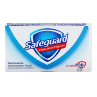 Мило антибактеріальне тверде Safeguard Класичне Біле, 125 г