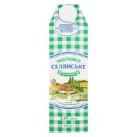 Молоко Селянське ультрапастеризоване 1,5% тетра/пак 950г х12