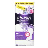 Щоденні гігієнічні прокладки Always Непомітний Захист Подовжені, 28 шт.