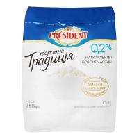 Сир кисломолочний President Творожна Традиція 0% 350г