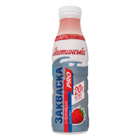 Закваска Яготинська Pro 0,5% з полуницею пет/пляшка 450г