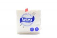 Серветки паперові столові Fantasy 24*24см Білі, 55 шт.