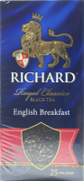 Чай Richard Royal Classics чорний у пакетиках 50г 25*2г х12