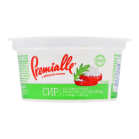 Сир зернистий Premialle з відбірного молока 7% стакан 150г