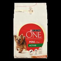 Корм Purina One Active для собак курка та рис 1,5кг х6