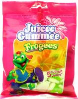 Цукерки Juicee Gummee Жабки з фруктовим соком 80г х12