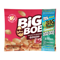 Арахіс Big Bob смажений солоний зі смаком бекону 30г