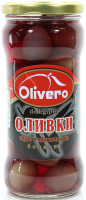 Оливки Olivero чорні з/к 350г
