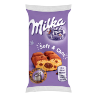 Тістечко Milka бісквітне шокол. нач./шмат.мол.шок. 35г х35