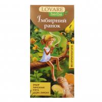 Чай Lovare квітковий Імбирний ранок 20пак.*1,8г