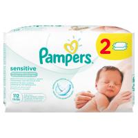 Дитячі серветки вологі гігієнічні Pampers Sensitive, 112 шт.