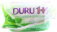Мило туалетне тверде Duru 1+1 Крем+Зелений чай, 90 г