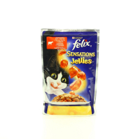 Корм Felix Sensations GiJ ялович. у желе з томатами 100г х20